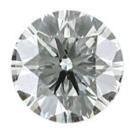 Diamant im Brillantschliff in runder Form